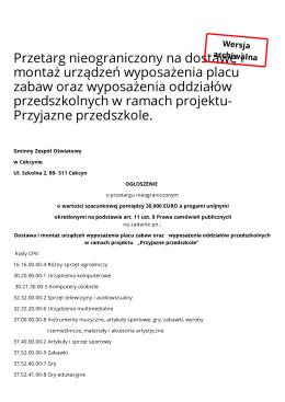 Biuletyn Informacji Publicznej - Urząd Gminy w Cekcynie
