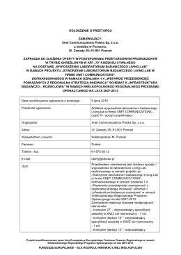 Ogłoszenie o przetargu /PDF
