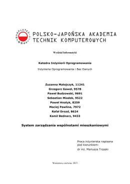 Załącznik 2 - Polsko-Japońska Akademia Technik Komputerowych
