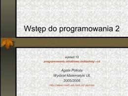 Wstęp do programowania 2