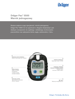 Informacje o produktach: Dräger Pac® 5500