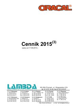 Cennik 2015 - Lambda Media