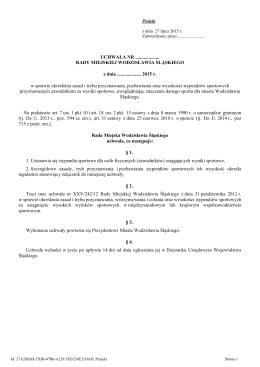 projekt uchwały - Wodzisław Śląski