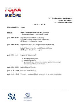 """XIV Ogólnopolska Konferencja """"Polka w Europie"""" 25 – 29 września"""