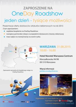 Zaproszenie Warszawa 31.08