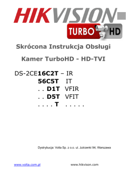 DS-2CE16C2T – IR 56C5T IT . . D1T VFIR . . D5T VFIT