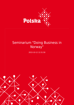"Seminarium ""Doing Business in Norway"""