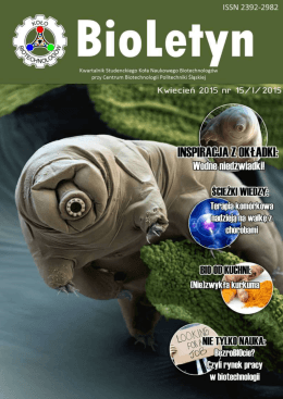 15/I/2015 - Katedra Biotechnologii Środowiskowej