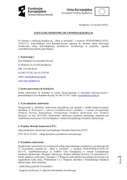 Zapytanie ofertowe - Doradca zawodowy - EURO
