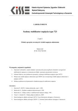 Scalony stabilizator napięcia typu 723