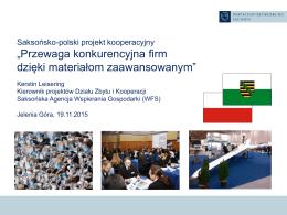 Die Arbeit der Wirtschaftsförderung Sachsen GmbH