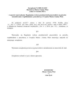 Zarządzenie Burmistrza Miasta i Gminy Wleń Nr 0050.81.2015 z