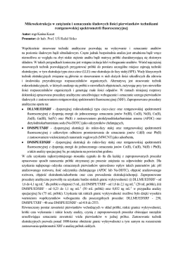 Mikroekstrakcja w zatężaniu i oznaczaniu śladowych ilości