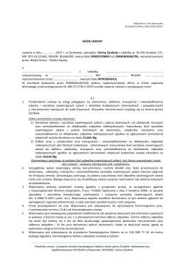 Wzory Umów - data zamieszczenia: 19-05-2015 r.