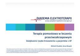 Terapia pomostowa w leczeniu p=zakrzepowym_M.Chudzik, A.Nowek