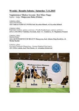 wyniki finałów 7.11.2015