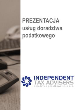 oferta PDF - INDEPENDENT TAX ADVISERS Doradztwo Podatkowe