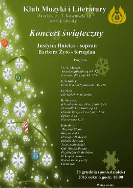 Program koncertu