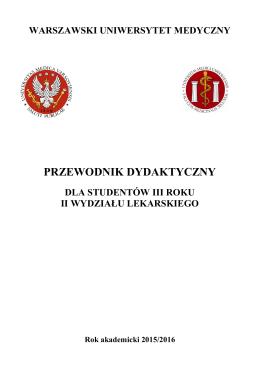 Przewodnik dydaktyczny dla studentów III roku
