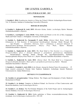 Pełna lista publikacji 2005 — 2015