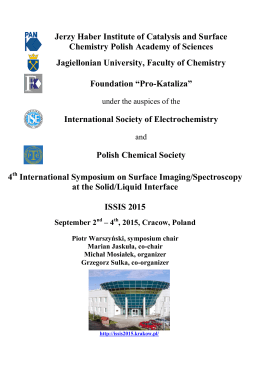 Jerzy Haber Institute of Catalysis and Surface Chemistry Polish