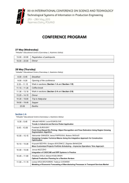 Conference program in *