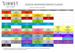 zajęcia grupowe/group classes