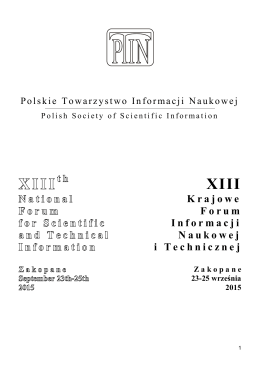 Krajowe Forum Informacji Naukowej i Technicznej