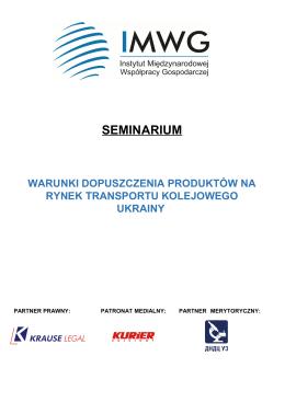Warunki dopuszczenia produktów na rynek transportu kolejowego