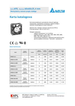 AFB 92x92x25 mm Karta katalogowa [PL]
