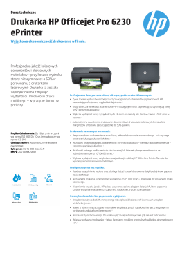 Broszura HP Officejet Pro 6230 ePrinter