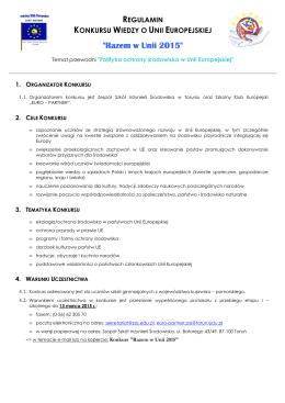 Razem w Unii 2015 - ZSIŚ | Zespół Szkół Inżynierii Środowiska w