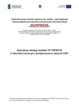 Instrukcja obsługi modułu NUMPRESS w interaktywnym pre