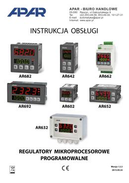 Instrukcja obsługi regulatorów serii AR65x