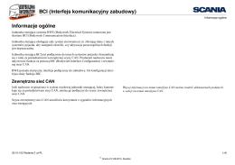 BCI (Interfejs komunikacyjny zabudowy) Informacje ogólne