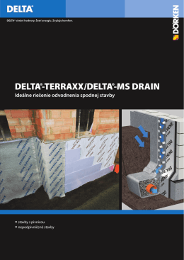 DELTA-Drenážne pásy, Argumentačná karta