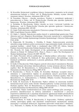 Publikacje książkowe - Śląski Uniwersytet Medyczny w Katowicach