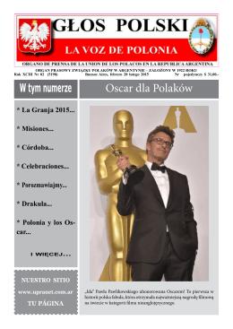 W tym numerze Oscar dla Polaków - Unión de los Polacos en la