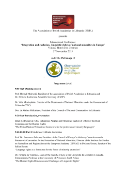 The Association of Polish Academics in Lithuania (SNPL) presents