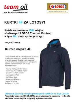 2015 09 07 promocja Kurtki 4F za LOTOSy