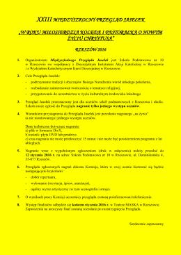 Regulamin - SP 10 w Rzeszowie