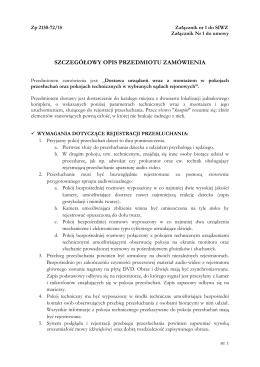 Szczegółowy opis przedmiotu zamówienia (załącznik nr 1 do umowy)