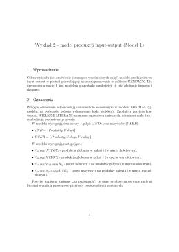 Wykład 2 - model produkcji input