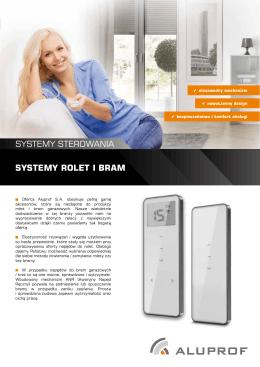 SYSTEMY ROLET I BRAM SYSTEMY STEROWANIA