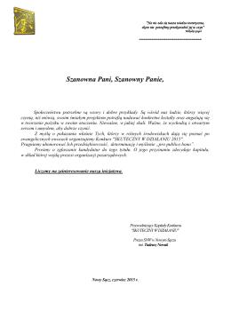 pismo o swd_2015 - Stowarzyszenie Nowosądecka Wspólnota