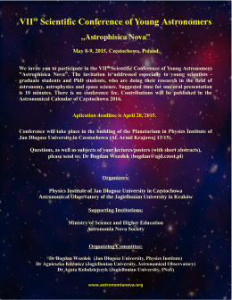 VIIth Scientific Conference of Young Astronomers
