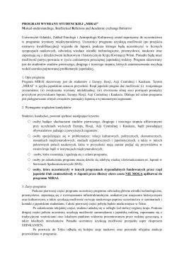 szczegółowy opis programu oraz wymagania