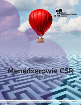 Menedżerowie CSR - Forum Odpowiedzialnego Biznesu