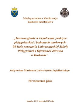 PDF format - Innowacyjność w kształceniu, praktyce pielęgniarskiej i