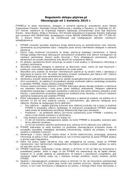 Regulamin sklepu - Polskie Towarzystwo Przesyłu i Rozdziału